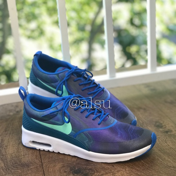 5f10cd64677073 NWT Nike Air Max Thea Print Blue WMNS